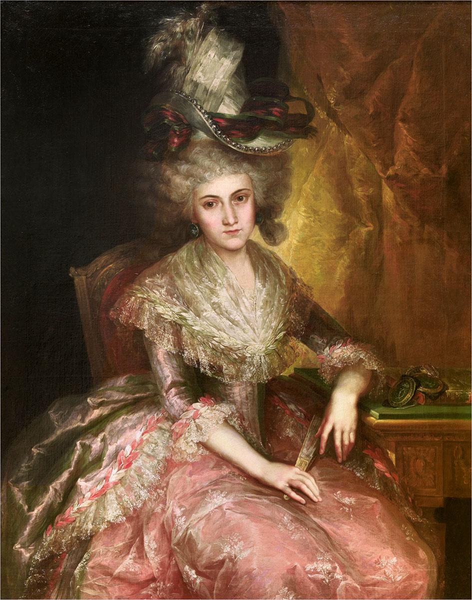 Vicente López Portaña.María Pilar de la Cerda y Marín de Resende, duquesa de Nájera. Hacia 1795. Museo Nacional del Prado.Madrid