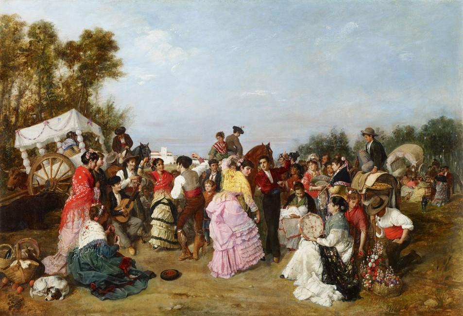 Manuel Cabral Bejarano. En la Romería de Torrijos. 1883. Museo Carmen Thyssen. Málaga.