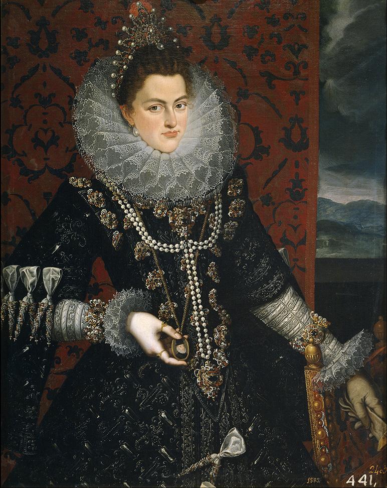 Juan Pantoja de la Cruz. La infanta Isabel Clara Eugenia. Hacia 1598. Museo Nacional del Prado. Madrid.