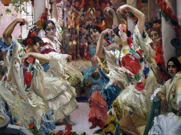 Joaquín Sorolla. Sevilla: el baile. 1915. Hispanyc Society of America. Nueva York
