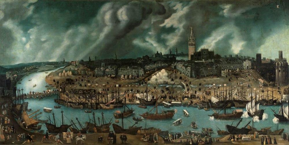 Alonso Sánchez Coello. Vista de la ciudad de Sevilla. Finales del siglo XVI. Museo Nacional del Prado en depósito en el Museo de América.