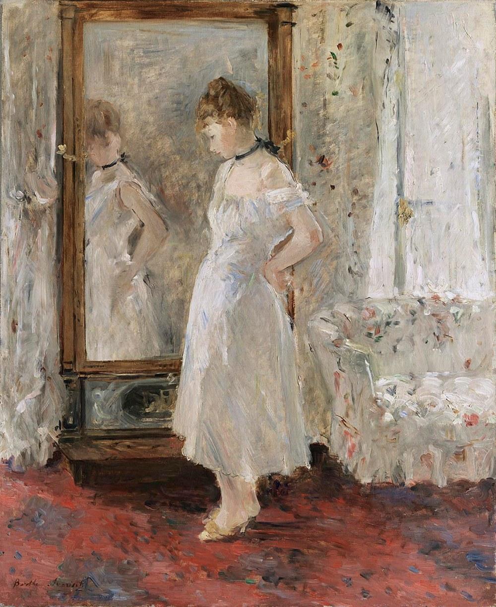 Berthe Morisot. El espejo psiqué. 1876. Museo Thyssen- Bornemisza. Madrid.