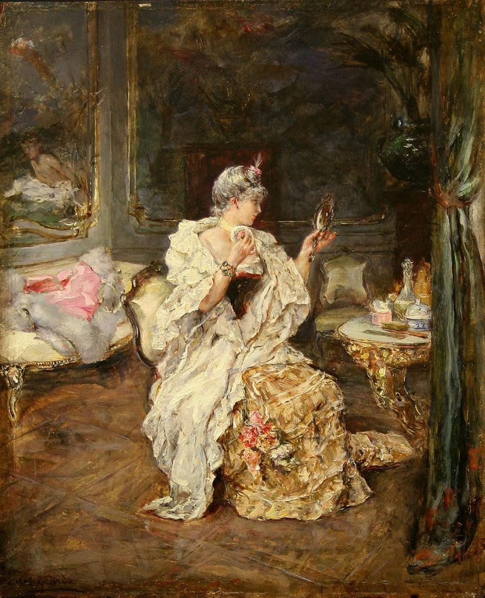 Eduardo León Garrido. Dama en el tocador. Último tercio de siglo XIX. Museo de Bellas Artes de BIlbao.