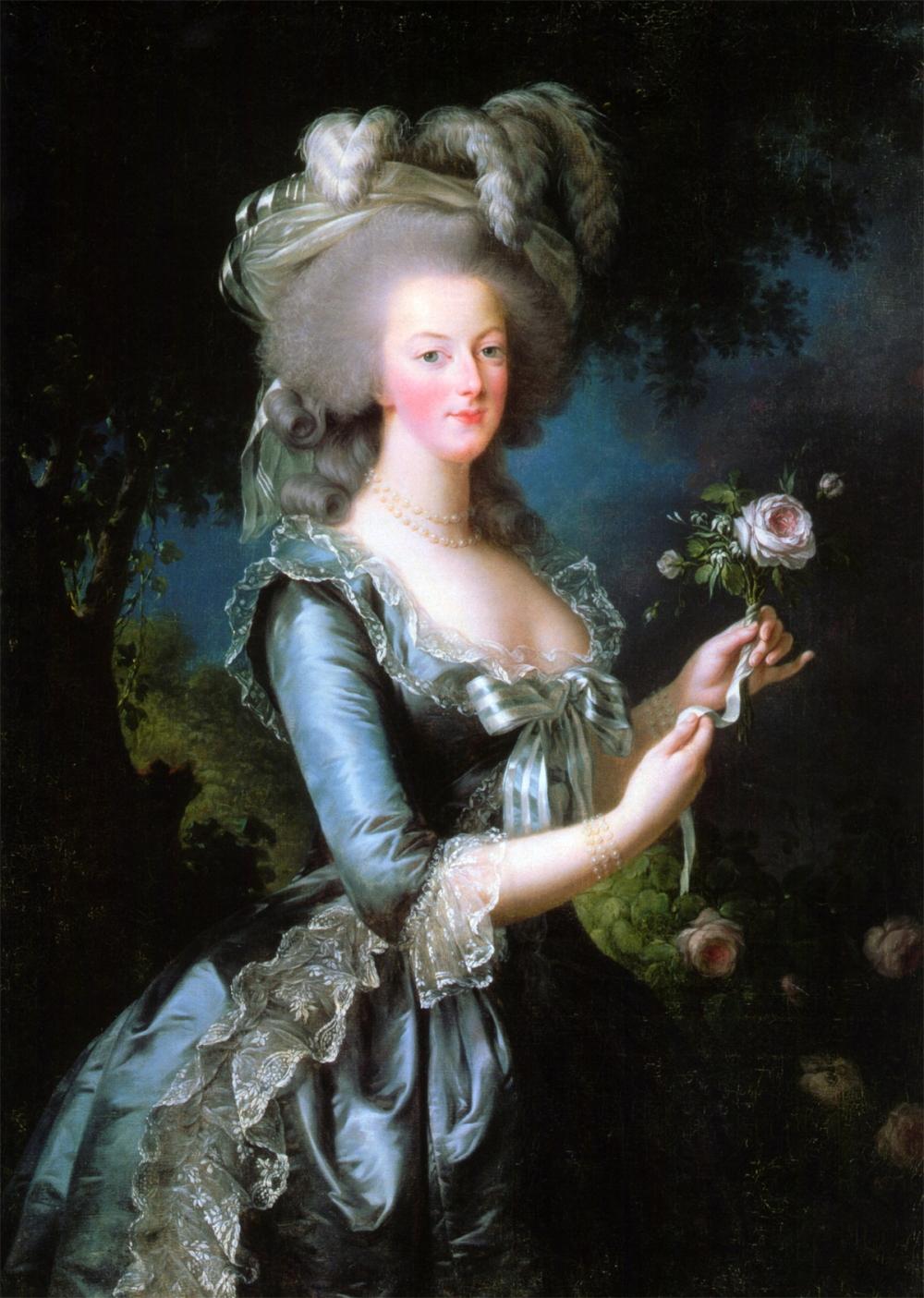 Louise Élisabeth Vigée Le Brun. Maria Antonieta con una rosa. 1783. Palacio de Versalles.