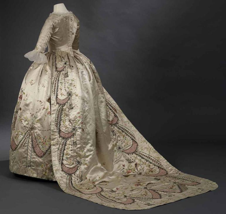 Vestido de la reina María Antonieta. Hacia 1780. Royal Ontario Museum