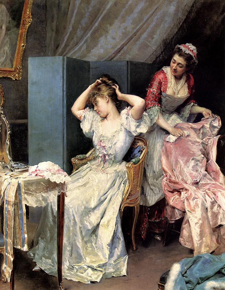 Raimundo de Madrazo. La Toilette. 1890-1900. Colección particular.
