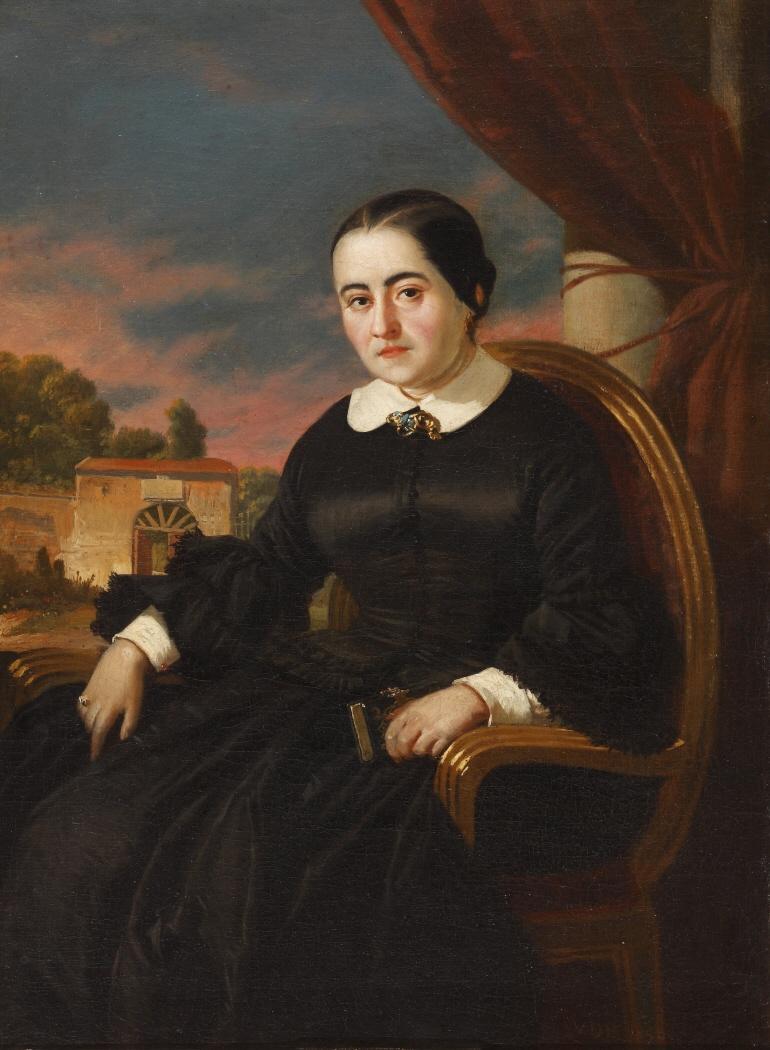 Valeriano Bécquer. Cecilia Böhl de Faber (Fernán Caballero). 1858. Museo del Romanticismo. Madrid.