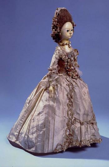 Muñeca de moda. Siglo XVIII. Bowes Museum.