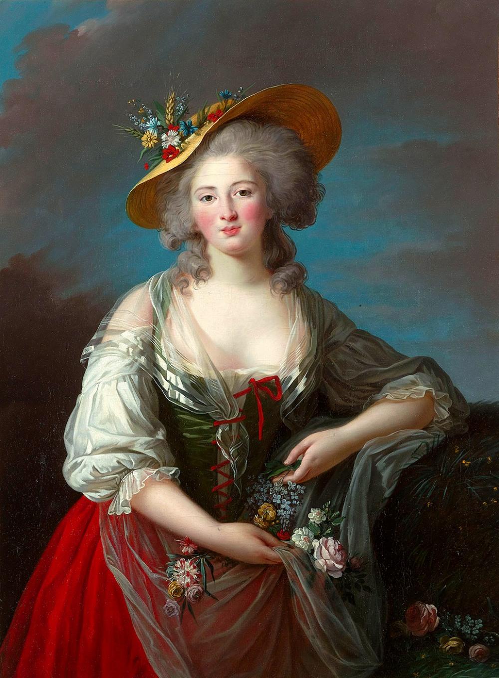 Marie Louise Élisabeth Vigée-Lebrun. Princesa Élisabeth de Francia.Hacia 1782. Palacio de Versalles.
