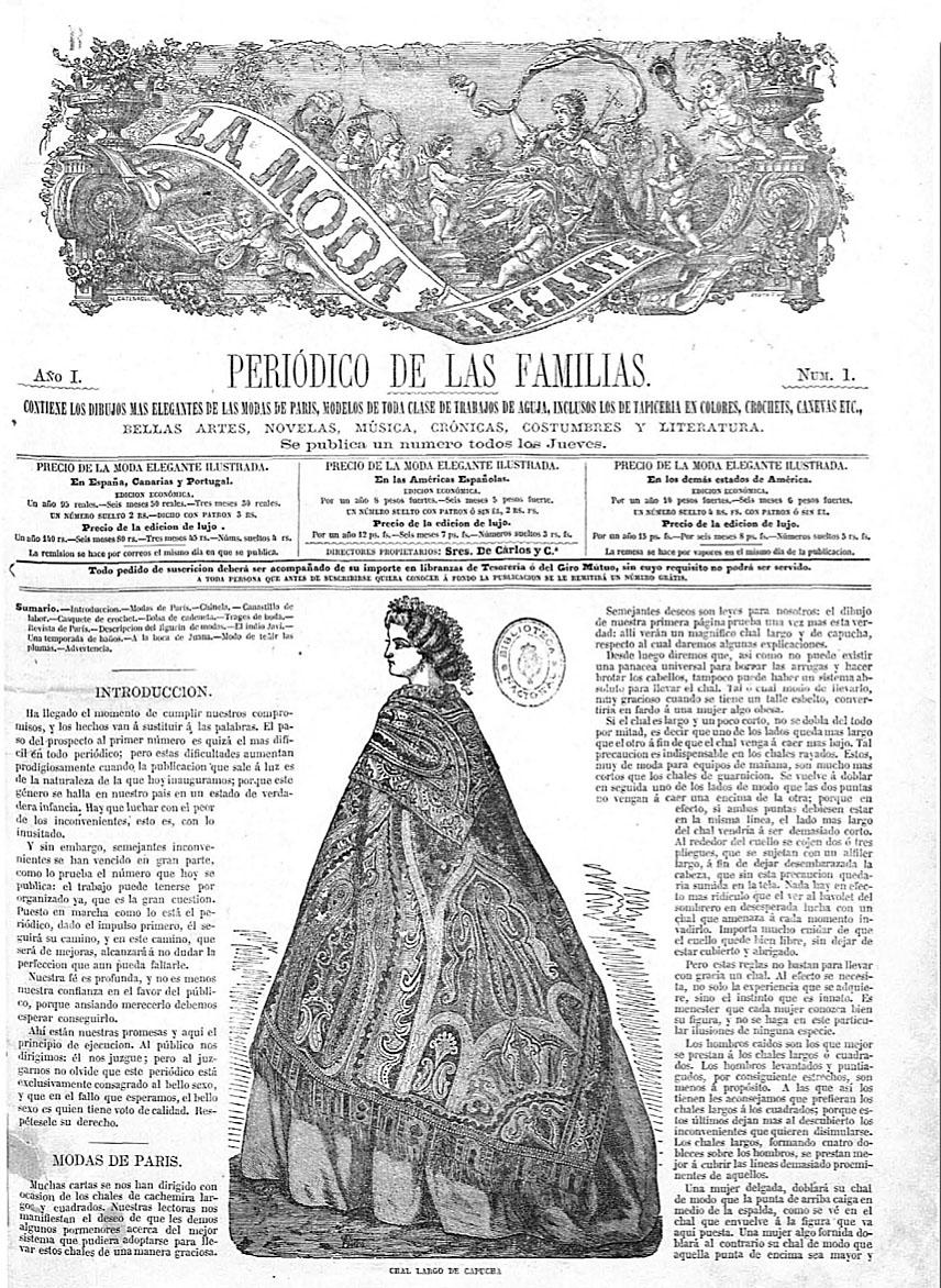 La moda elegante ilustrada. 1861.