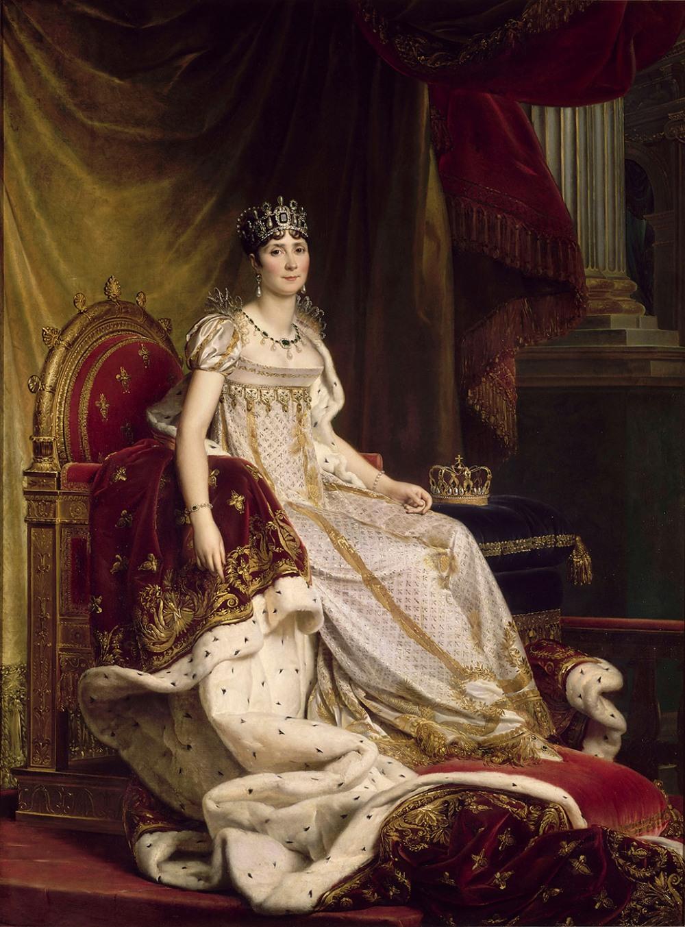 François Gérard. Josefina con el traje de la coronación. 1807-1808. Museo Nacional del Castillo de Fontainebleau.