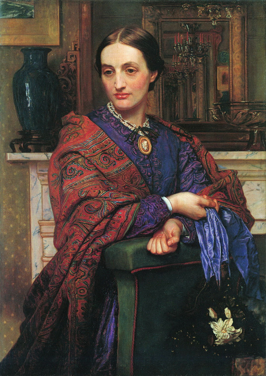 William Holman Hunt. Retrati de Fany Holman Hunt. 1866-1867. Colección particular.