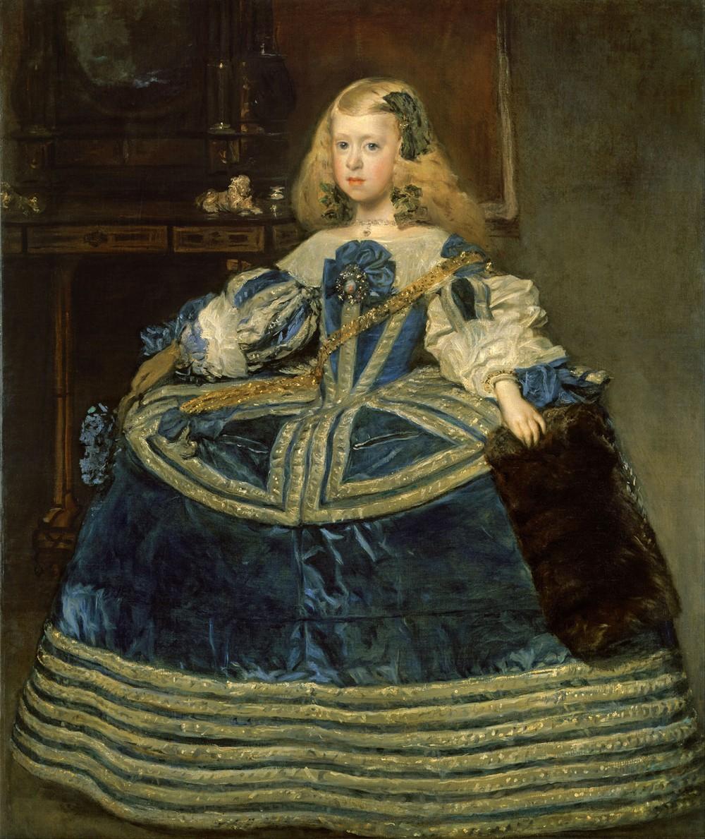 Diego Velázquez. La Infanta Margarita en azul. 1659. Kunsthistorisches Museum. Viena.