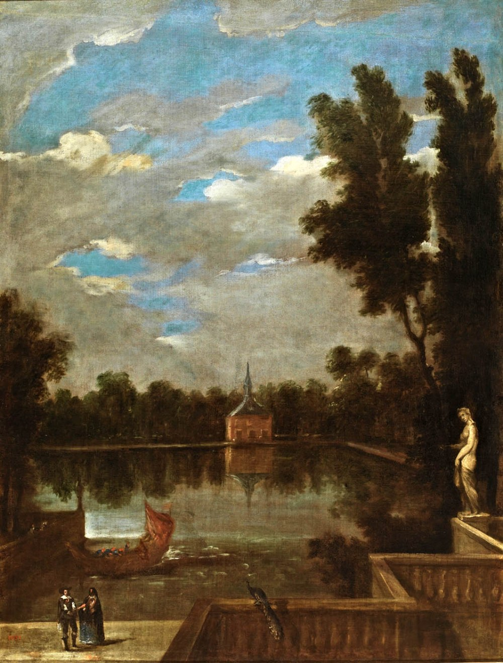 Juan Bautista Martínez del Mazo. El Estanque Grande del Buen Retiro. Hacia 1657. Museo Nacional del Prado. Madrid.