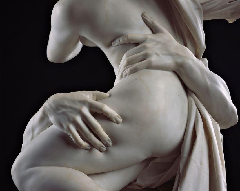 Gian Lorenzo Bernini. El rato de Proserpina. Detalle. 1621-1622. Galeria Borghese. Roma.