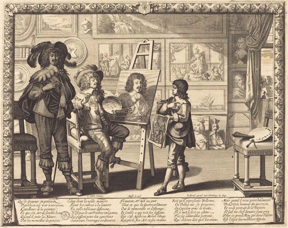 Abraham Bosse. El noble pintor. 1642. National Gallery. Washington.
