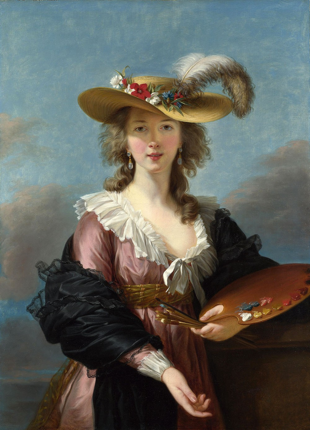 Élisabeth Vigée Le Brun. Autorretrato con sombrero de paja. Después de 1782. National Gallery.