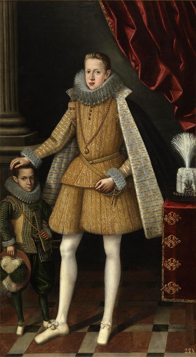 Rodrigo de Villandrando. El príncipe Felipe y el enano Miguel Soplillo. Hacia 1620. Museo Nacional del Prado. Madrid.