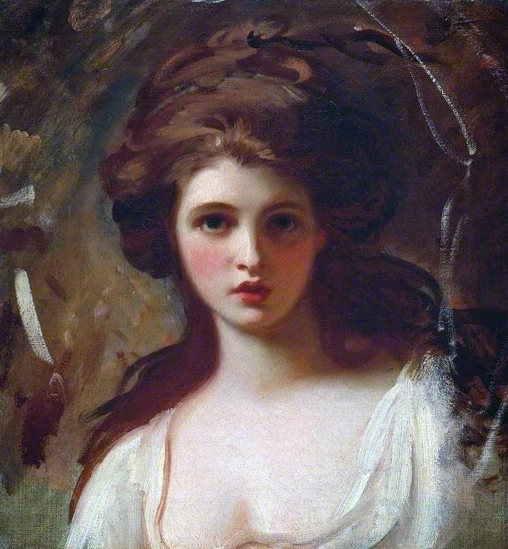 George Romney. Lady Hamilton como Circe. hacia 1782. Tate Gallery. Londres.