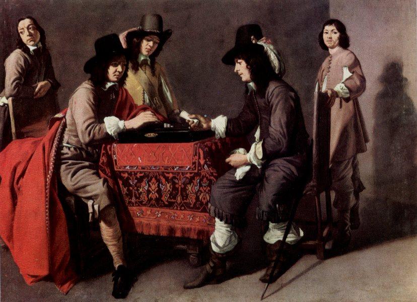 Louis Le Nain. Juego de Tric trac. Hacia 1650. Museo del Louvre. Paris.