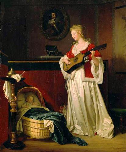 Marguerite Gerard. Durmiendo a mi hijo. 1788. Colección particular.