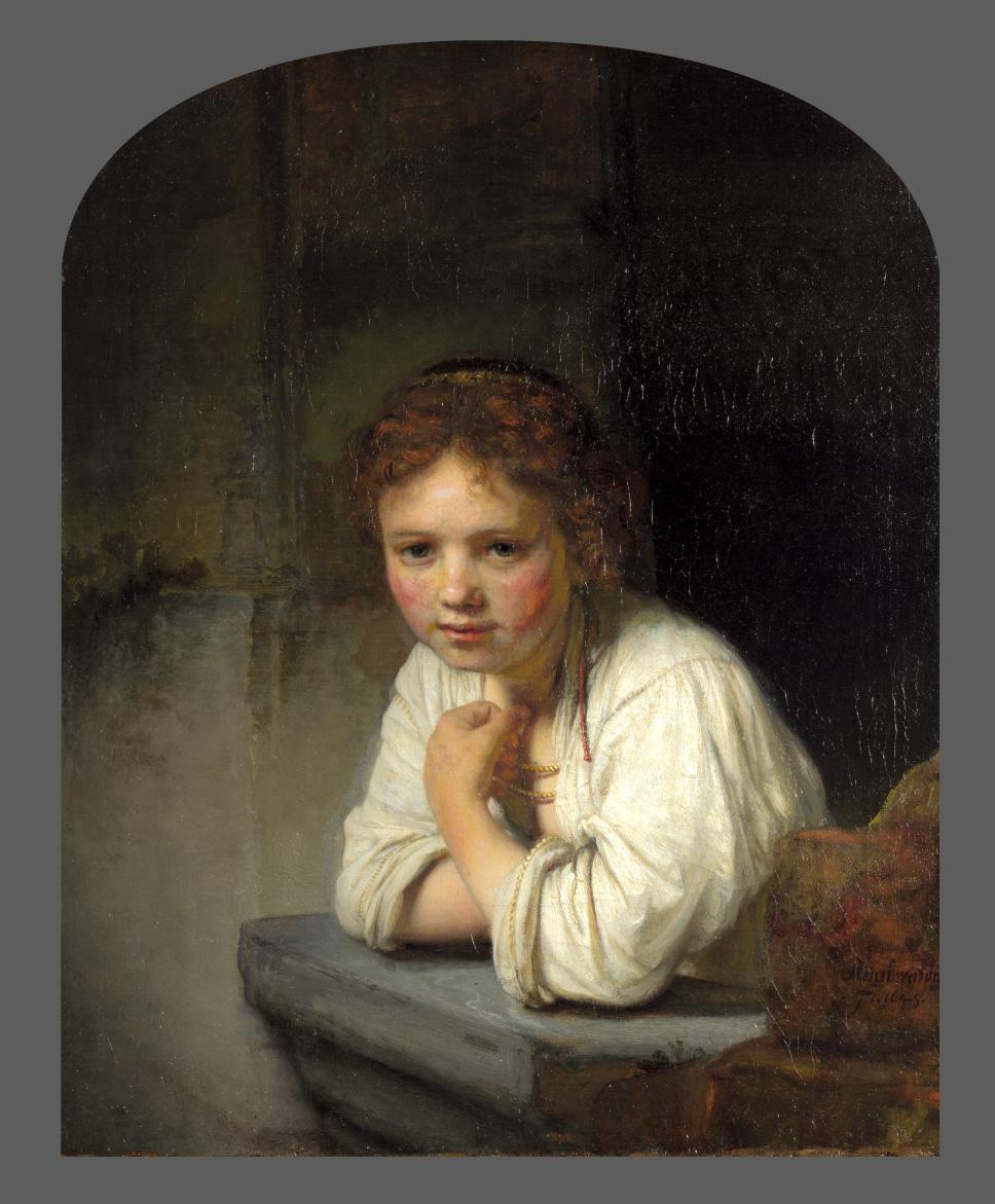 Rembrandt. Muchacha en la ventana. 1645. Dulwich Picture Gallery. Londres.