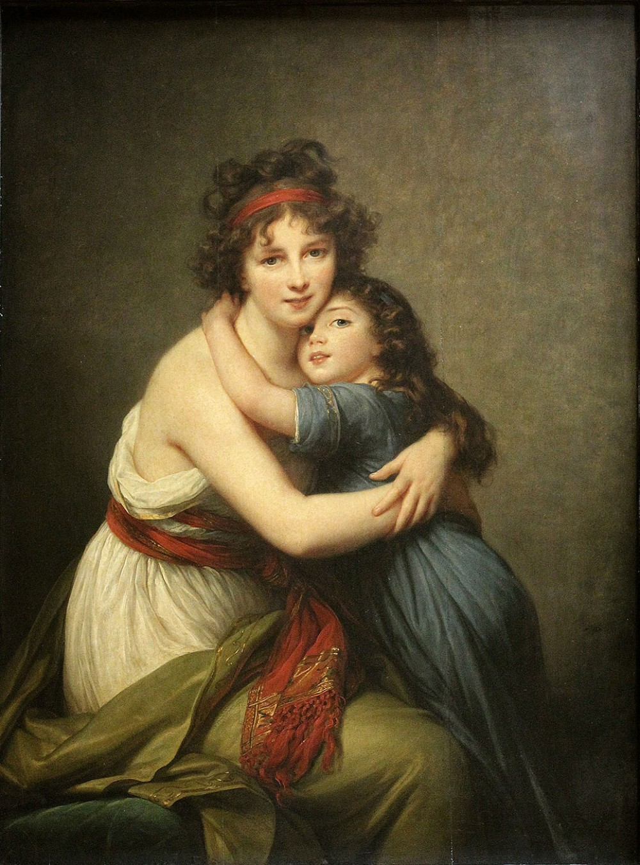 Élisabeth-Louise Vigée-Le Brun. Autorretrato con su hija. 1789. Museo del Louvre. París.
