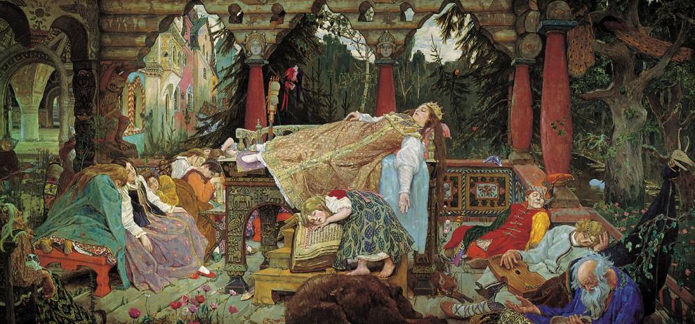 Viktor Vasnetsov. La reina durmiente. 1900-1926. Casa museo de V. M. Vasnetsov