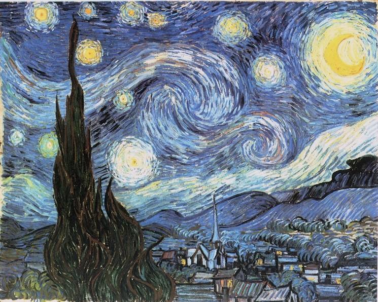 Vincent van Gogh. La noche estrellada.1889. Moma. Nueva York.
