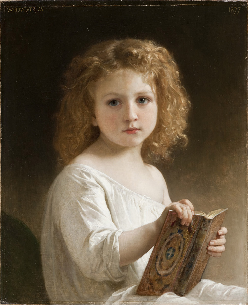 William-Adolphe Bouguereau. The Story Book. 1877.LACMA. Los Ángeles.