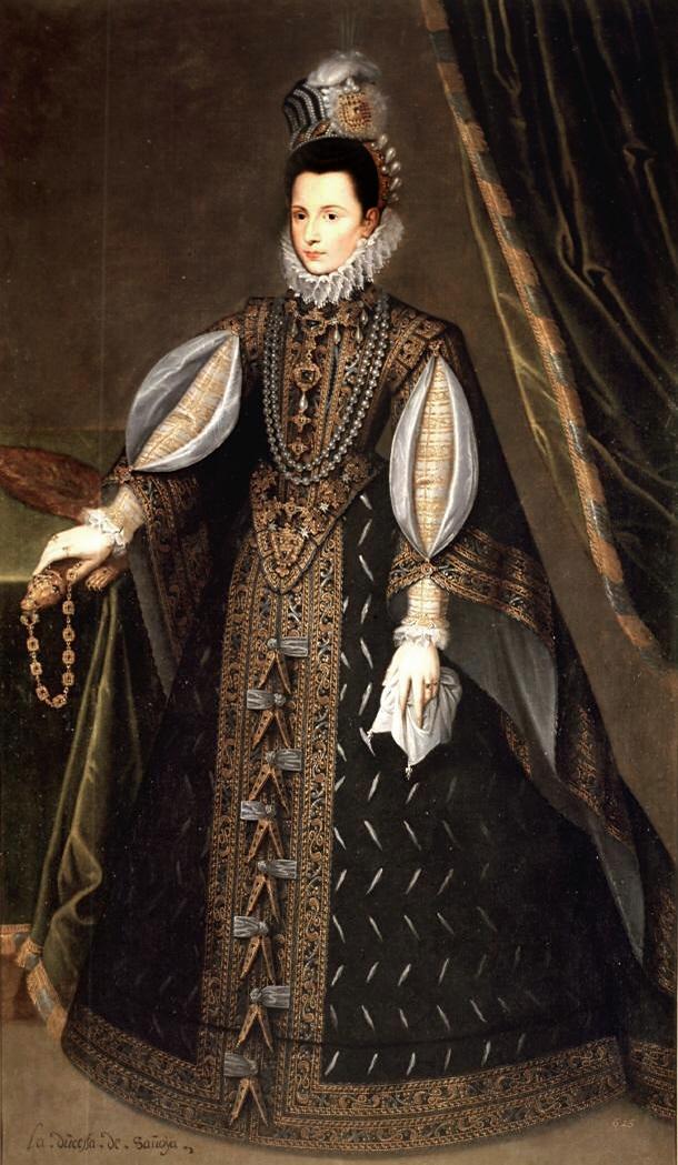 Anónimo. Infanta Catalina Micaela de Austria, duquesa de Saboya. 1585-1591 Museo Lázaro Galdiano.
