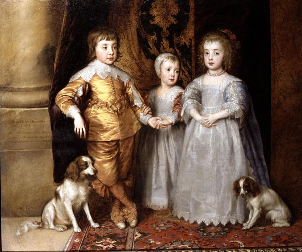 Anthony van Dyck. Los tres hijos mayores de Carlos I. 1635-1636 Colección Real. Windsor.
