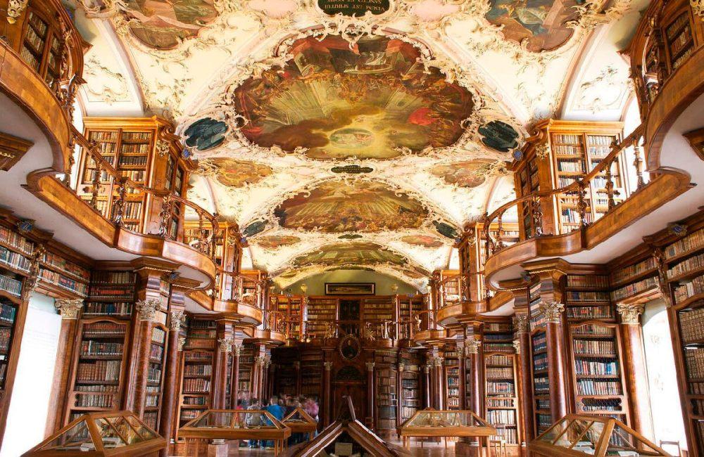 Biblioteca de la Abadía de San Galo. 1758-1767. Sankt Gallen. Suiza.