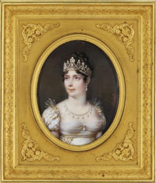 Daniel Saint. Retrato de Josefina, emperatriz de los franceses. Hacia 1805. Colección particular.