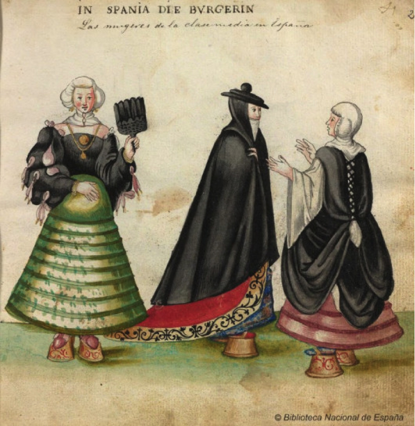 Christoph Weiditz. Códice de trajes. Siglo XVI. Biblioteca Nacional de España. Madrid