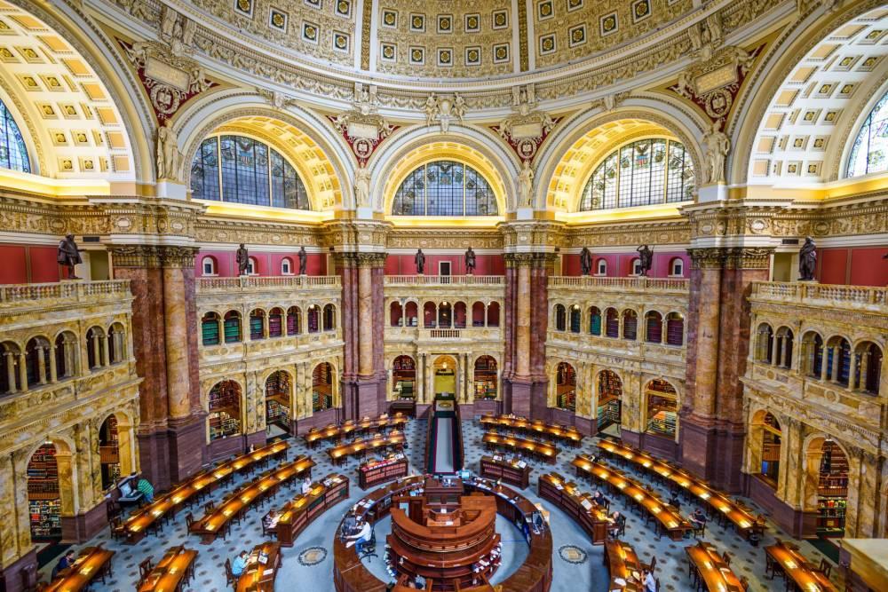 Libreria del Congreso. Edificio Thomas Jefferson. 1800. Estados Unidos.