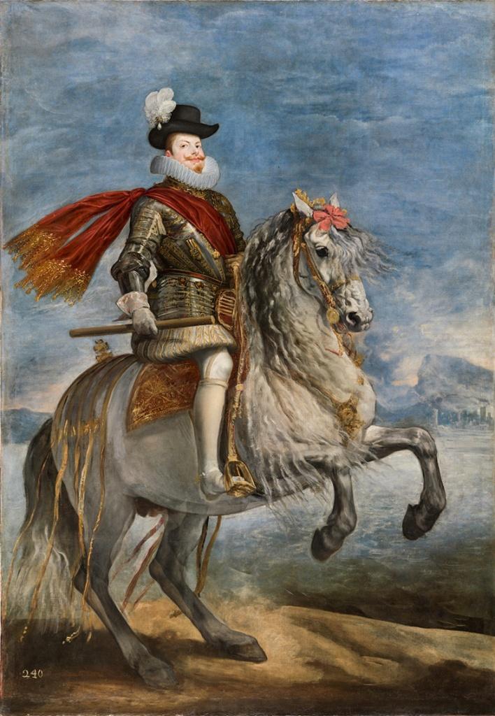 Diego Velázquez. Felipe III, a caballo. Hacia 1635. Museo Nacional del Prado. Madrid.