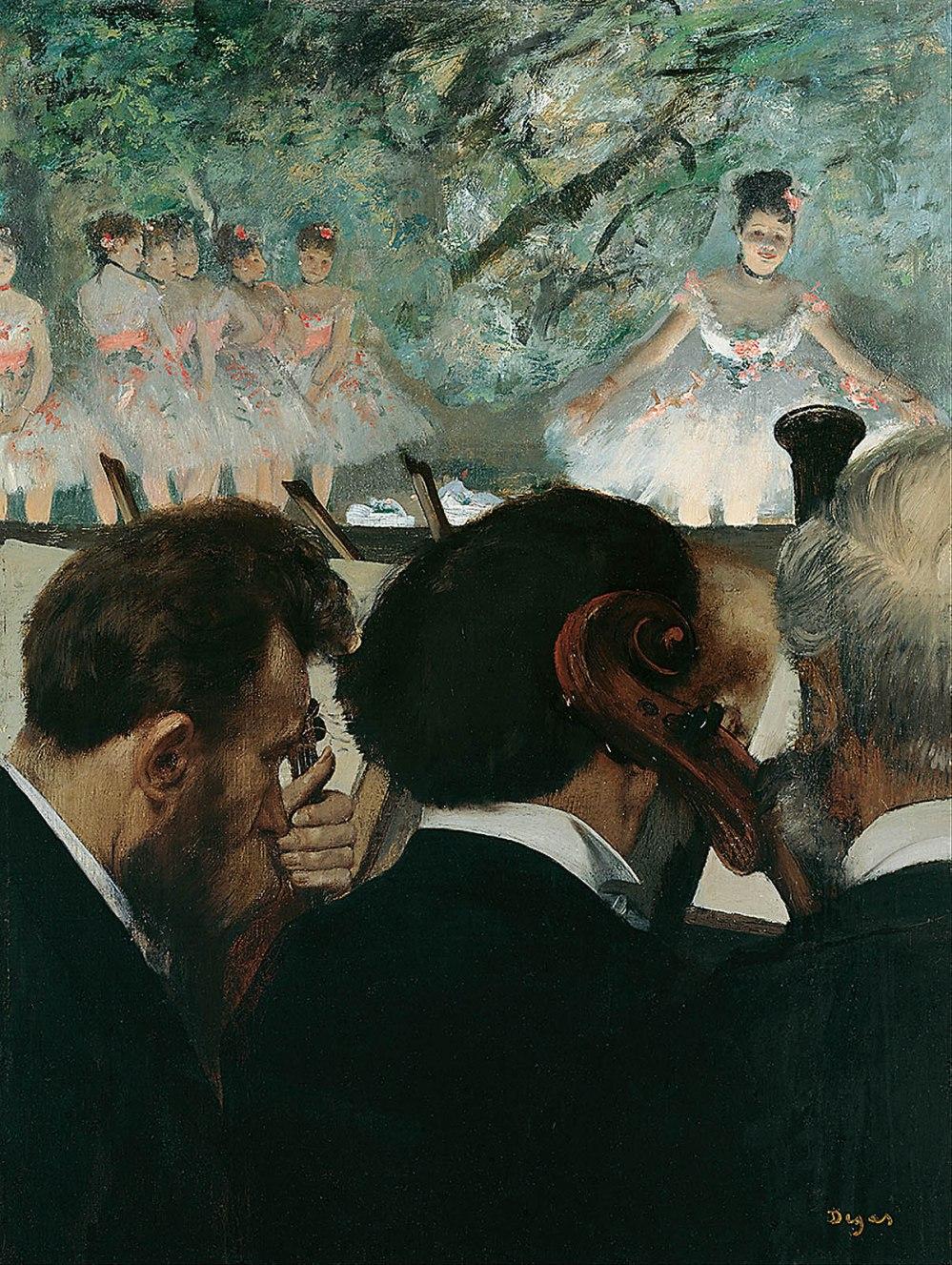 Edgar Degas. 1872-1876. Los músicos de la orquesta. Städel Museum. Frankfurt.