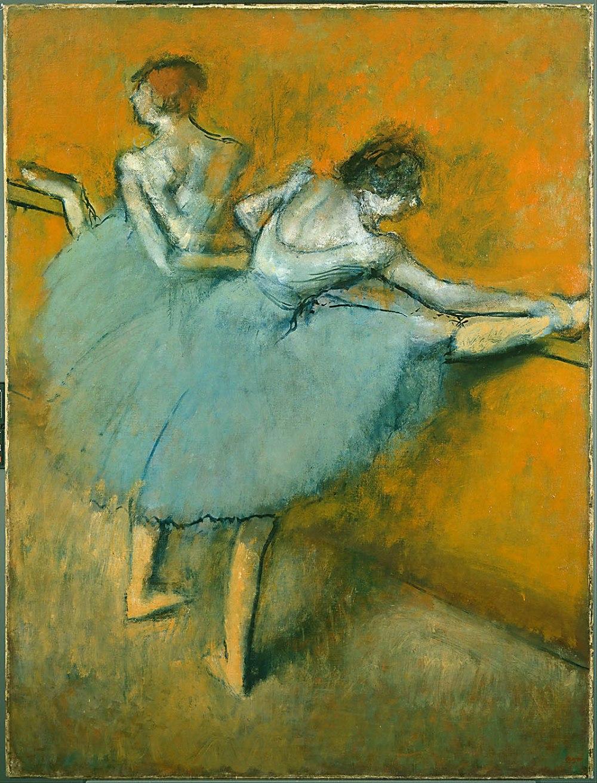 Edgar Degas. Bailarinas en la barra. 1888. The Phillips Collection. Washington.
