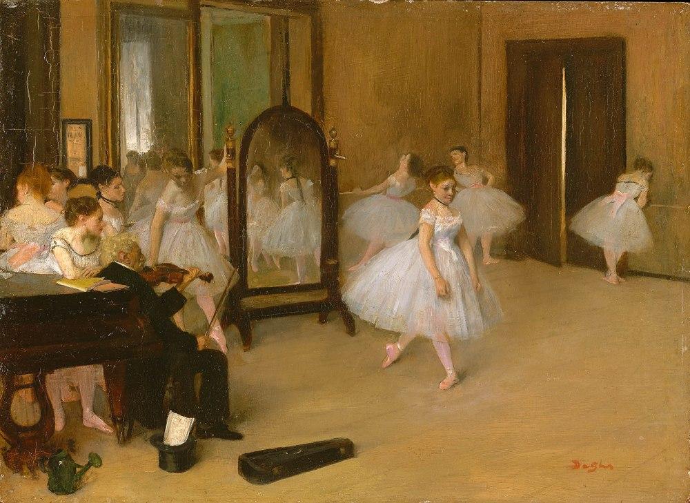 Edgar Degas. La lección de danza. 1872. Metropolitan Museum. Nueva York.