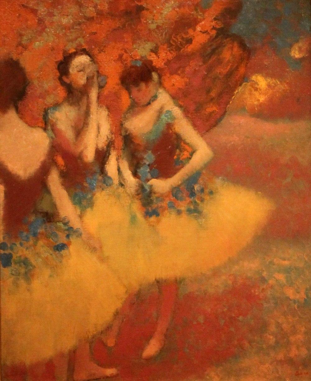 Edgar Degas. Tres bailarinas con faldas amarillas. 1891. Detroit Institute of Arts.