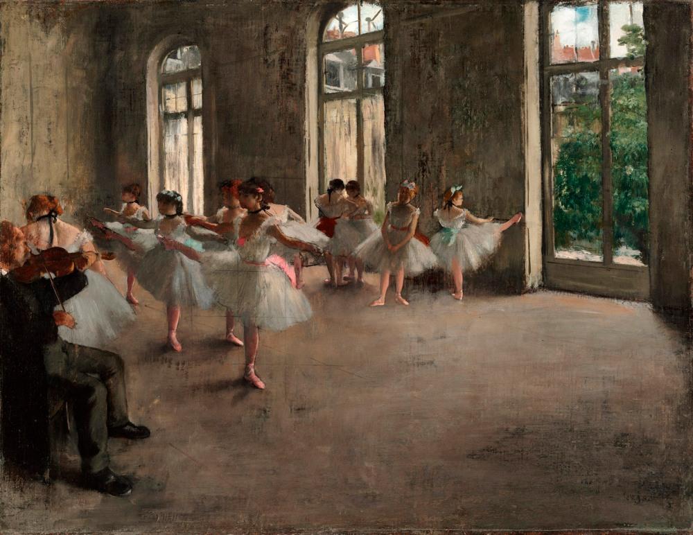 Edgar Degas. Ensayo de ballet. 1873. The Fogg Art Museum. Cambridge. Massachusetts.