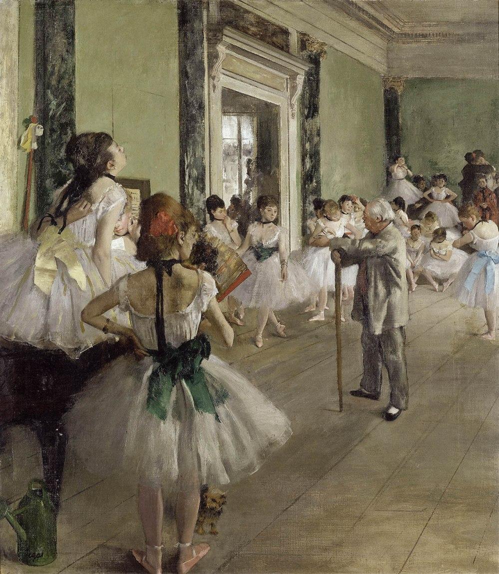 Edgar Degas. La clase de danza. 1871-1874. Museo de Orsay. París.