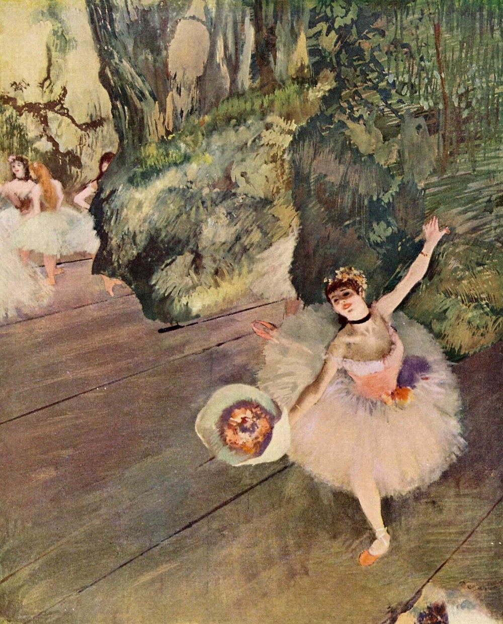 Edgar Degas. Bailarina haciendo una reverencia. Hacia 1878. Getty Center. Los Ángeles.