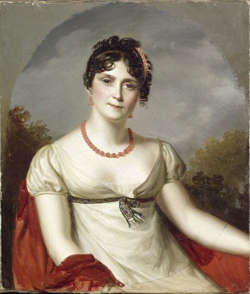 Firmin Massot. Retrato de la emperatriz Josefina. Hacia 1812. Castillo de la Malmaison. Francia.