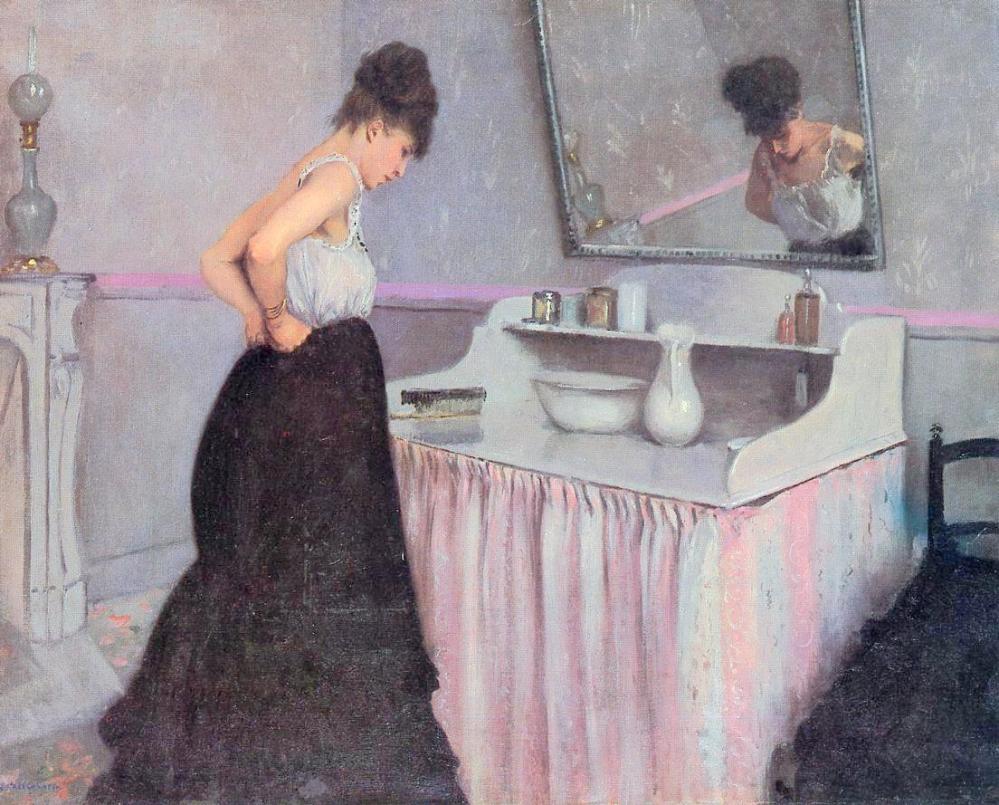 Gustave Caillebotte. Mujer en el tocador. Hacia 1873.