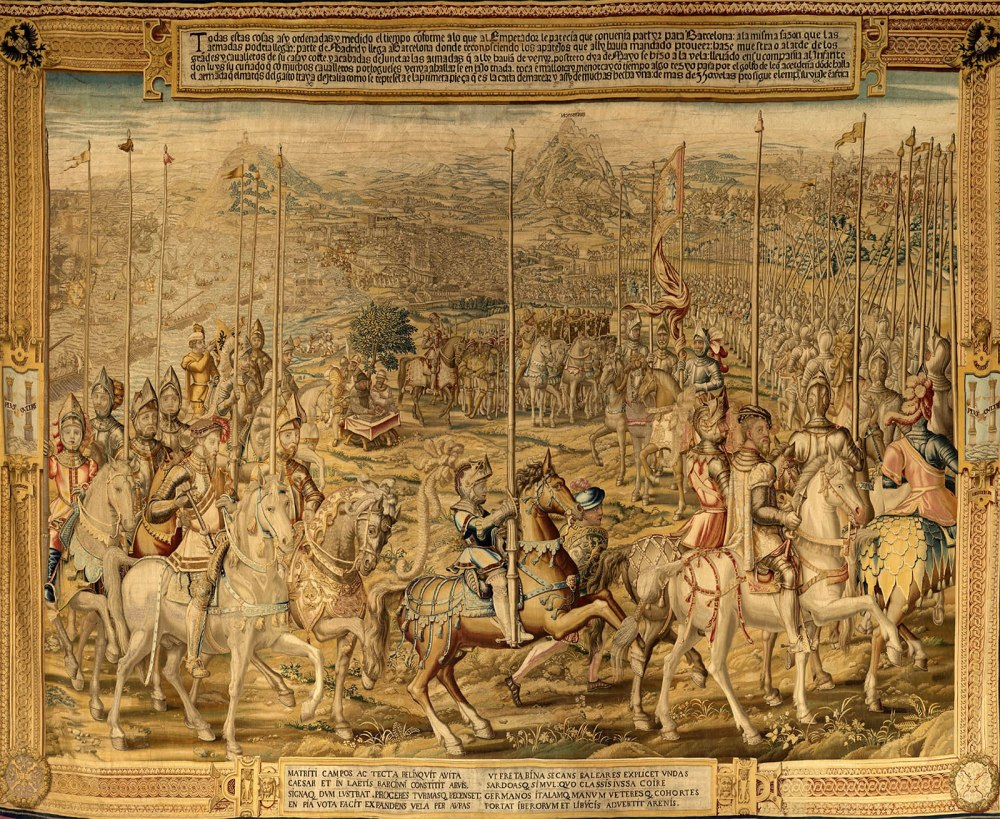 Willem de Pannemaker sobre cartón de Jan Cornelisz Vermeyen. Ataque a La Goleta. La conquista de Túnez. 1550- 1554. Patrimonio Nacional.