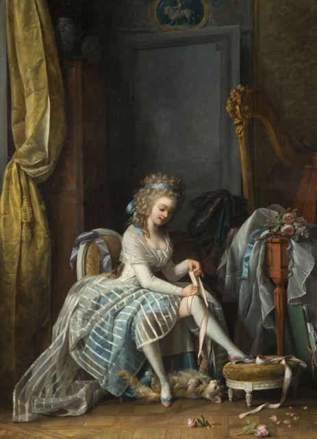 Michel Garnier. Joven en su toilette. 1780. Colección particular.