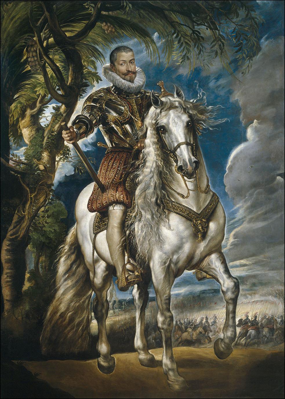 Peter Paul Rubens. Retrato ecuestre del duque de Lerma. 1603. Museo Nacional del Prado. Madrid.