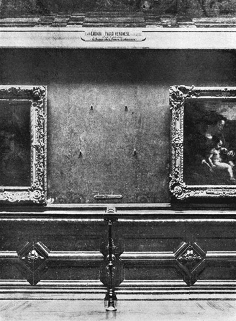 Hueco de la pared de la galería Carre de donde se exhibía el cuadro antes del robo.